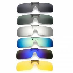 UV400 Gafas del Sol Polarizado para Conducir Lente Clip On de Visión Nocturna para Gafas de Miopía