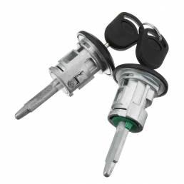 Puerta delantera izquierda derecha cerradura Barriles + 2 llaves para Ford Transit MK6 MK7 2000-2016