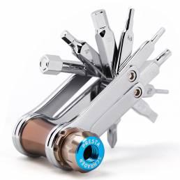 CXWXC T04 11 en 1 multifuncional herramientas Reparación de bicicletas herramienta AV / FV Boquilla de gas Llave Mini ki