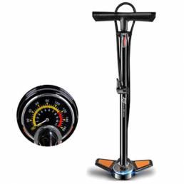 ROCKBROS 160PSI Bomba de precisión de alta presión Bomba de bicicleta de acero al carbono Bomba de aire de ciclo deporti