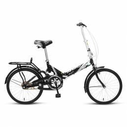 Bicicleta plegable FOREVER de 20 pulgadas Youth Bicicleta de carretera con absorción de impactos con asiento trasero par