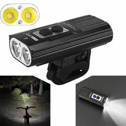 NITENUMENX81800LM2xU26 modos 18650 Li-ion Batería USB Impermeable recargable luz bicicleta