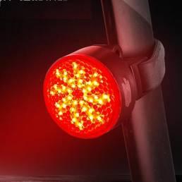 WEST BIKING 40LM IPX4 Impermeable COB Luz trasera de bicicleta 2 modos de carga USB Luz de bicicleta de advertencia