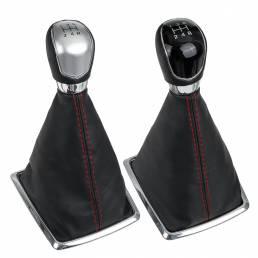 5 velocidades MT Coche Engranaje Palo Botón de cambio con guardapolvo para Ford Focus 2005-2008