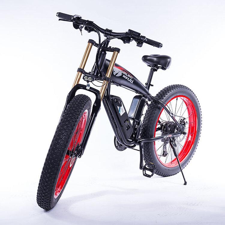 SMLRO S10 PLUS 48V 17.5Ah 500W 26in Bicicleta de ciclomotor eléctrica 35 km / h Bicicleta eléctrica de alta velocidad Bi