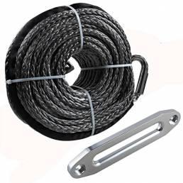 95  longitud 16500LBS Cabrestante sintético Cuerda Cable de línea ATV SUV Recuperación Cuerda