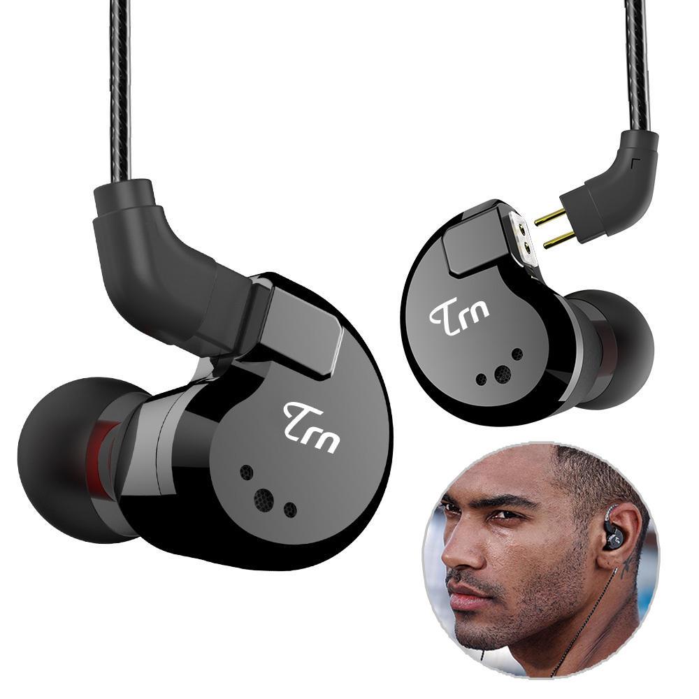 [8 controladores] TRN V80 2BA + 2DD Hybrid Auricular Auriculares de graves dinámicos de armadura dual equilibrada de alt