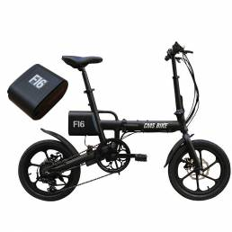 CMSBIKE F16 Extra Batería Set 36V 7.8AH 250W Negro 16 pulgadas Bicicleta eléctrica plegable 20km / h 65KM Kilometraje Si