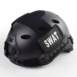FAST PJ Casco Airsoft Tactical Casco Ajustable Deporte Cómodo Casco Transpirable Ciclismo Caza Protector de cabeza