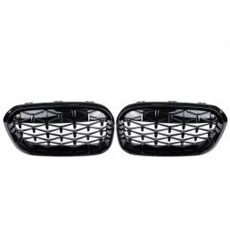 Parrilla de rejilla frontal Black Diamond Meteor Último estilo para BMW 1 Series F20 15-17