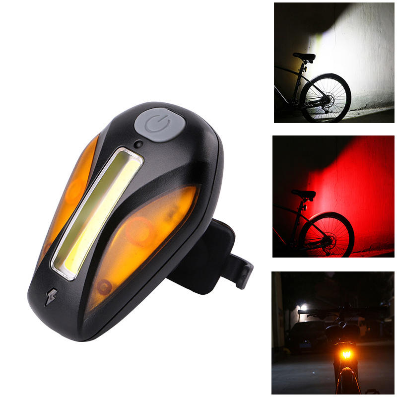 WHEEL UP Luz Trasera de Bicicleta Carga USB 3 Color Ligero 5 Modo de Flash Luz Trasera de Bicicleta Deporte al Aire Libr