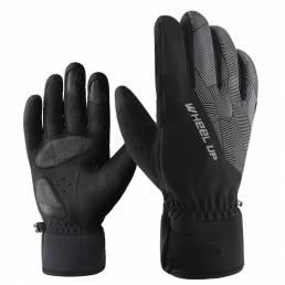 WHEEL UP 1 par bicicleta Guantes dedo completo hombres Mujer añadir terciopelo transpirable invierno cálido MTB Guantes