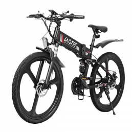 LAOTIE® PX7 48V 10Ah 350W 26in Bicicleta de ciclomotor eléctrica plegable 35 km / h Velocidad máxima 80 km Bicicleta elé