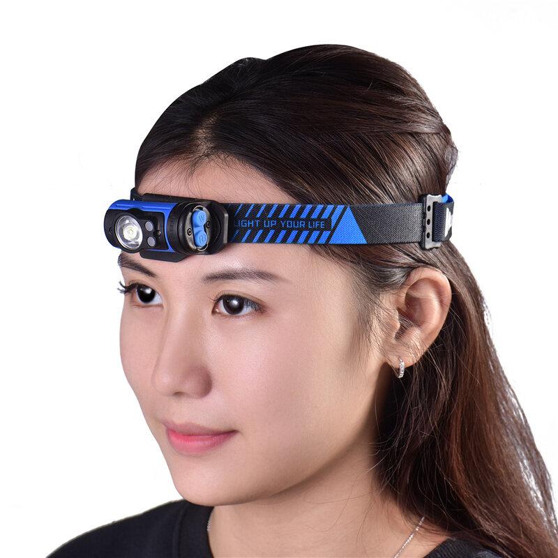 WUBEN H3 Faro 7 modos 140LM Giratorio LED Faro para chico Mujer Hombres Sombrero Cap Clip en luz Ciclismo pesca Cabeza L