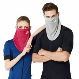 Seda de hielo Cara completa transpirable a prueba de rayos UV Mascara Cuello Bufanda de protección solar Gaiter con Orej