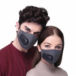 Ciclismo al aire libre Lavable Boca Boca Mascara PM2.5 Filtro con purificador eléctrico Unisex Senderismo Running