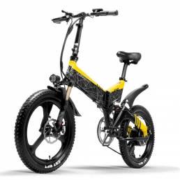 LANKELEISI G650 14.5Ah 48V 400W 20 pulgadas ciclomotor plegable bicicleta eléctrica 100Km kilometraje carga máxima 120 k
