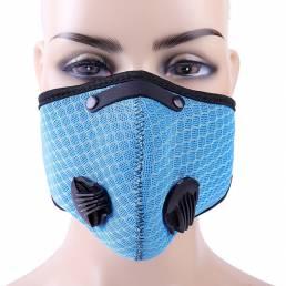 Carbón activado en 3D Anti Polvo PM2.5 Cara Mascara al aire libre Montar Mascara Boca transpirable Mascaras Deportes Mas