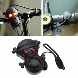 XANES WB01 Campana de Alto Decibel de 120dB de Cuerno Eléctrico de Bicicleta con Luz de Alerta Multitono Impermeable