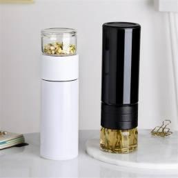Temperatura de la botella de agua de vacío de acero inoxidable con aislamiento táctil inteligente de 300 ml Pantalla