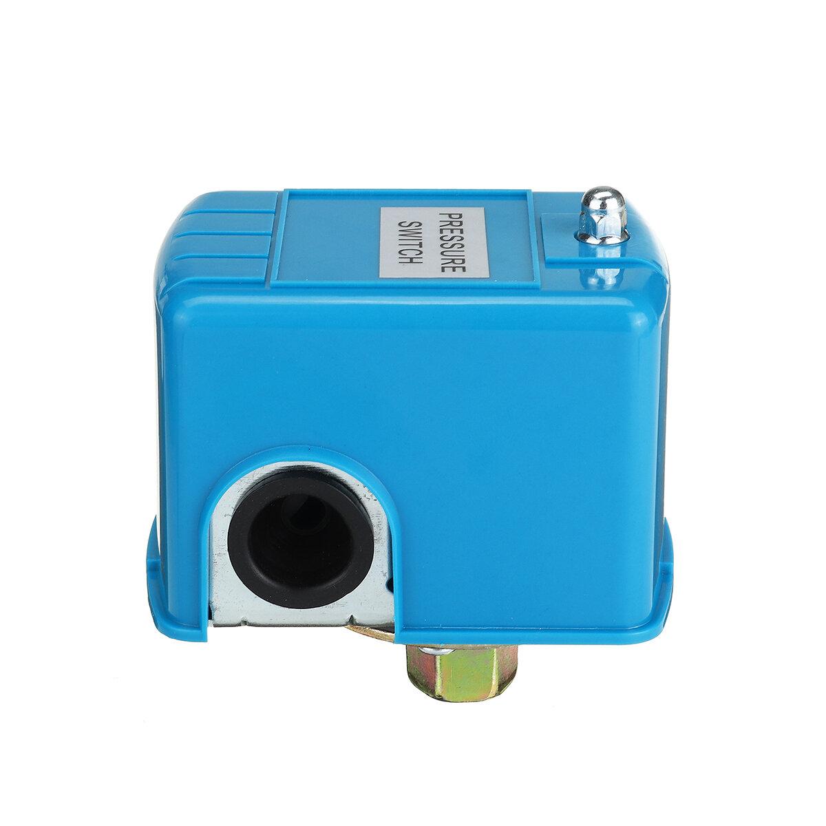 Interruptor de control de presión de la bomba de agua de 40-60 PSI Cubierta azul de poste doble de resorte