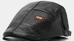 Collrown Hombre de piel sintética informal cálido vendedor de periódicos Sombrero Adelante Sombrero Boina Sombrero