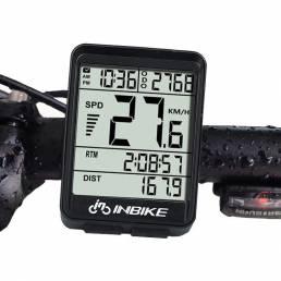 INBIKE IN321 Retroiluminación Computadora de bicicleta Impermeable Inalámbrico LCD Cuentakilómetros Velocímetro de bicic
