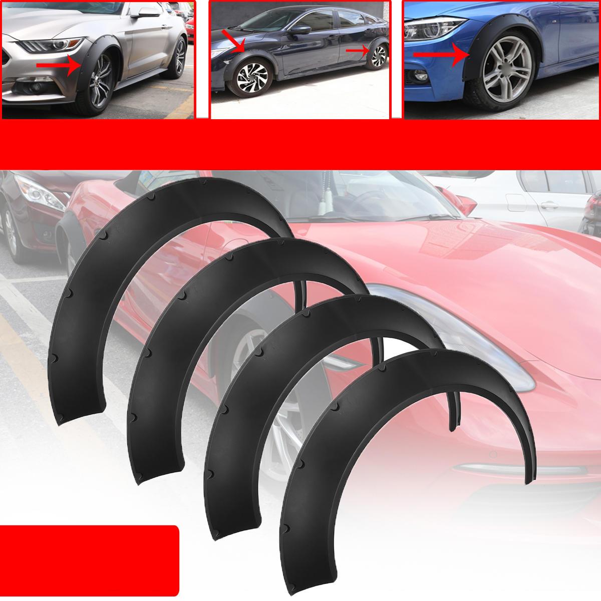 Universal Coche Guardabarros para ruedas Destellos de 4 piezas Kits de cuerpo de poliuretano flexibles pero duraderos Ar