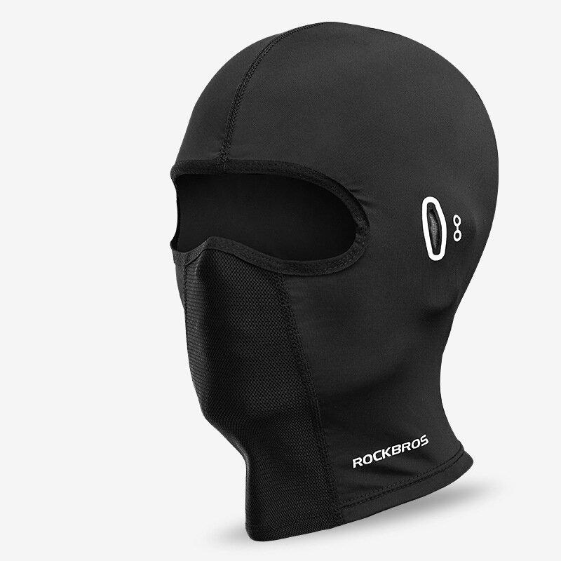 ROCKBROS Ice Silk UV Casco de protección para montar Moto Cara completa Mascara Tejido de secado rápido agradable para l