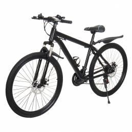 BIKIGHT 26 Inch Bicicleta de montaña de 21 velocidades Freno de disco doble delantero y trasero MTB al aire libre Bicicl