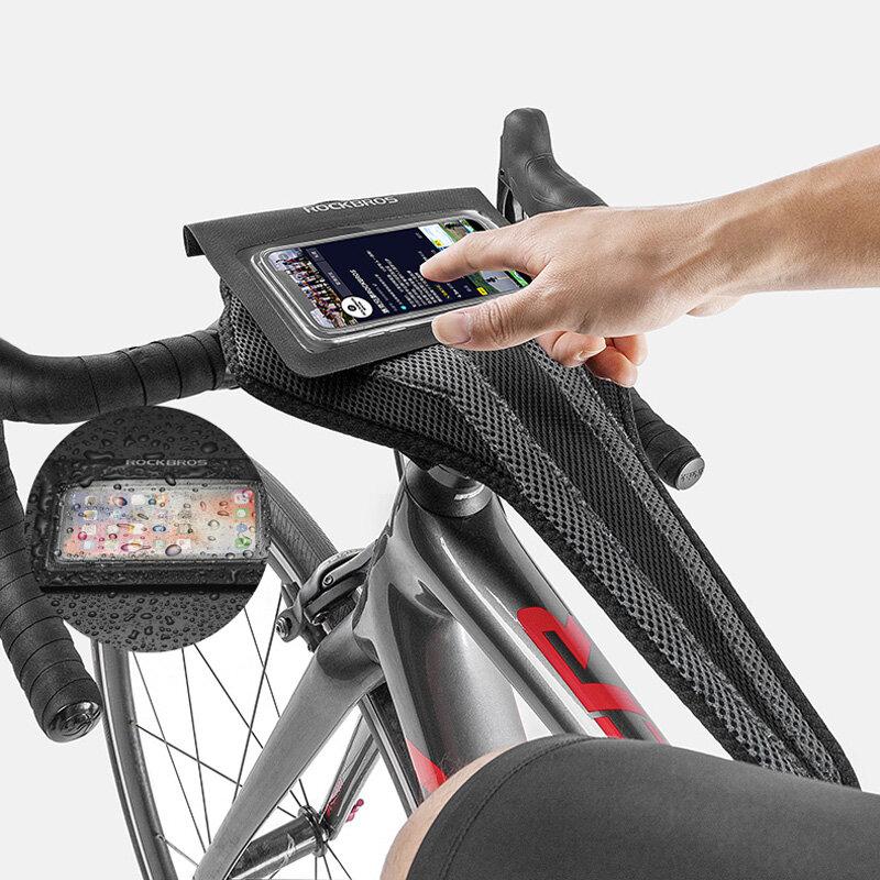 ROCKBROS Bike Sweatband Sports Trainer Sweat Absorb Cloth Net Cintas para el sudor de bicicleta de secado rápido con tel