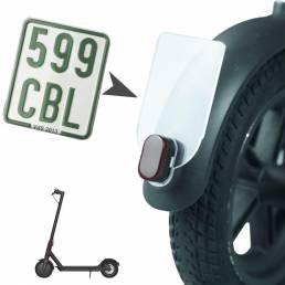Licencia de advertencia de seguridad a prueba de golpes BIKIGHT Placa para M365 Pro Licencia de cola trasera de scooter