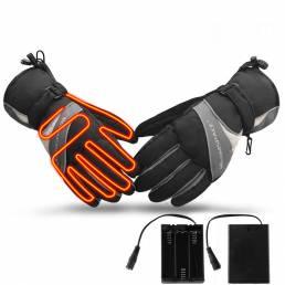 WARMSPACE WS-GA304B Calefacción eléctrica Guantes al aire libre Pantalla táctil para esquiar Guantes Guante de invierno