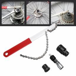 BIKIGHT Reparación de bicicletas reparadas herramienta 4 en 1 Eliminación de eje MTB herramienta Volante Llave Juego de