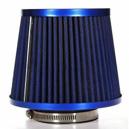 Cono de malla de filtro de aire de coche con acabado de carbono universal 76 mm