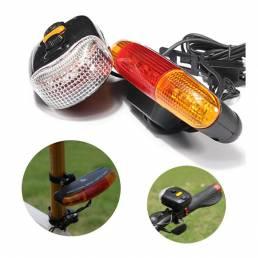 3-en-1 7 LED Indicador bicicleta a su vez la señal del freno cuerno luz advierten