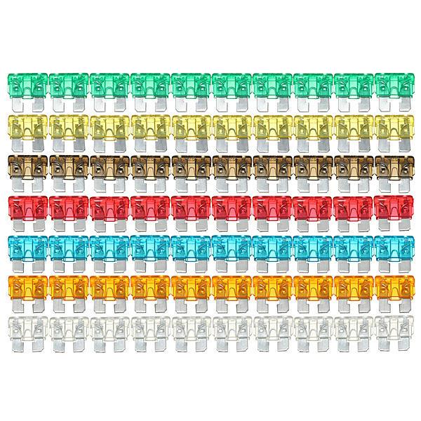 120xassorted mini-auto estándar de fusibles cuchilla 5 7.5 10 15 20 25 30 amperios