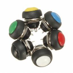 Coche Auto momentáneo APAGADO ENCENDIDO Botón redondo Interruptor de bocina Multicolor