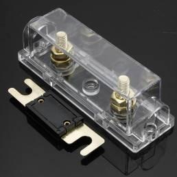 Coche Portafusibles y libre ANL Fuse 0 Gauge Cable Inline Clear
