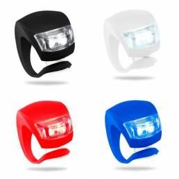 Luz de la Bicicleta Impermeable de Silicona LED Linterna de la Bicicleta de Montaña