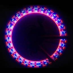 Lámpara de 32 bicicletas patrón de doble válvula de luz LED en forma de ruedas