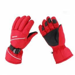 Guantes de nieve impermeable deportes de invierno guantes de snowboard de esquí caliente de los hombres
