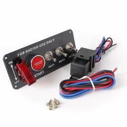Motor de encendido por pulsador de arranque de carreras botón del panel de interruptores de palanca