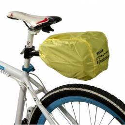 ROSWHEEL Bicicleta Hebilla de liberación rápida Bolsa de sillín de bicicleta + Funda para lluvia
