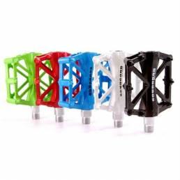 SCUDGOOD Pedales de bicicleta de aleación de aluminio Dos rodamientos Multicolor