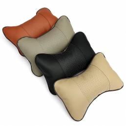 2PCS Breathe Coche Auto Seat Head Cuello cojín de descanso cojín de almohada resto de la cabeza