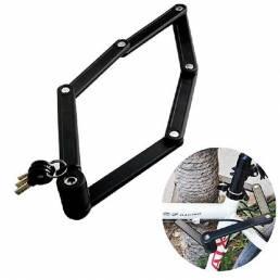 Bicicleta de alta resistencia cerradura Anti Robo 6 articulaciones Bicicleta plegable cerradura