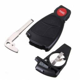 Elegante carcasa caso llave remota sin llave con soporte de la batería para el Benz