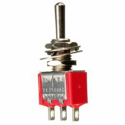 Rojo pin 3 on-off-el 3 de spdt pequeño interruptor de palanca 6a ac / 125v 3a / 250v