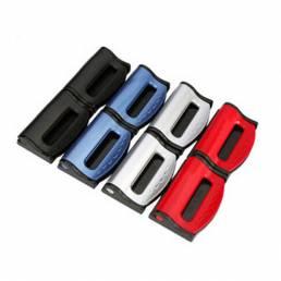 Un par de Coche Seguridad Cinturón Asiento con clip ajustado Cinturón Dispositivo de ajuste elástico